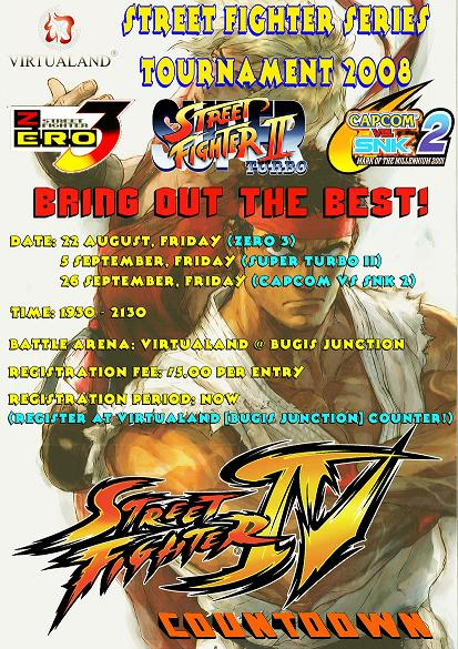 Singapore Street Fighter tournaments
